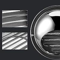 JIUZHI - Rejilla de ventilación redonda para campana extractora, ventilador, rejilla de ventilación de acero inoxidable con red antiinsectos, 100 mm: Amazon.es: Bricolaje y herramientas