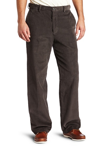 Haggar Mens Work To Weekend Hidden Expandable Waist Corduroy Plain Front Pant, (Plain Front Corduroy Pants)
