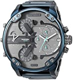 Diesel Men's Mr Daddy 2.0 Analog-Quartz Watch with Stainless-Steel-Plated Strap, Blue, 24 (Model: DZ7414)