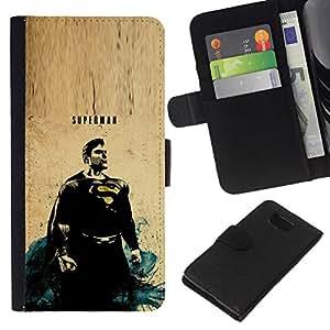 All Phone Most Case / Oferta Especial Cáscara Funda de cuero Monedero Cubierta de proteccion Caso / Wallet Case for Samsung ALPHA G850 // Flying Vintage Painting