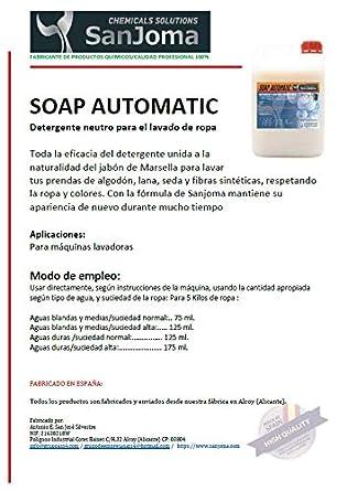 SOAP AUTOMATIC detergente líquido de lavadora neutro. Lavado de ...