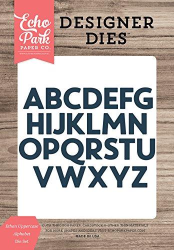 Uppercase Alphabet Dies - Echo Park Paper Company EPPDIE715 Ethan Uppercase Alphabet Die Set