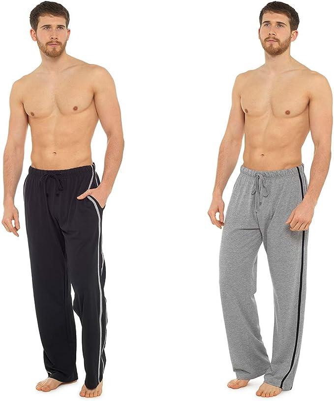 Hombre Largo Desgaste del Salón Pantalón Pijama (2 Pack) pantalón de Pijama Pijamas: Amazon.es: Ropa y accesorios