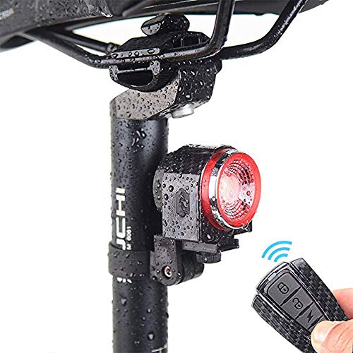 8fc160ffbc22 LEIWOOR Smart Bike Tail Light Ultra Bright with Remote Control, Bike Light  Rechargeable Intelligent Bell Alarm,IPX6 Waterproof LED Bicycle Lights,Easy  to ...
