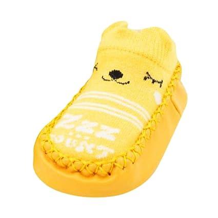 Calcetines De Bebé,ZARLLE Invierno Bebé NiñAs NiñOs Indoor Zapatillas Piso Calcetines PatróN De Dibujos