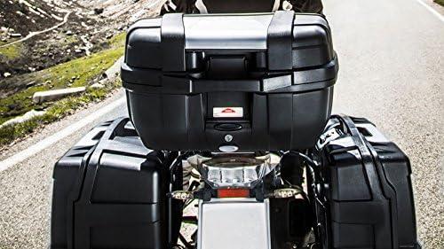 Givi KGR52 Garda Monokey Topcase 10 kg de capacit/é Max avec Une Couverture Fait /à partir de laluminium 52 L de Volume de Chargement