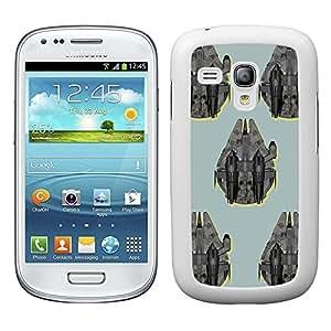 Funda carcasa para Samsung Galaxy S3 Mini estampado nave Halcón SW borde blanco