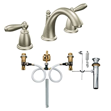 Moen T6620BN-9000 Brantford Two-Handle High Arc Bathroom Faucet ...