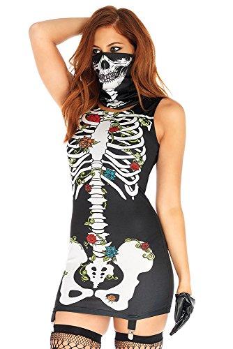 Jug&Po Womens Scary Sleeveless Skeleton Dress Cosplay Halloween