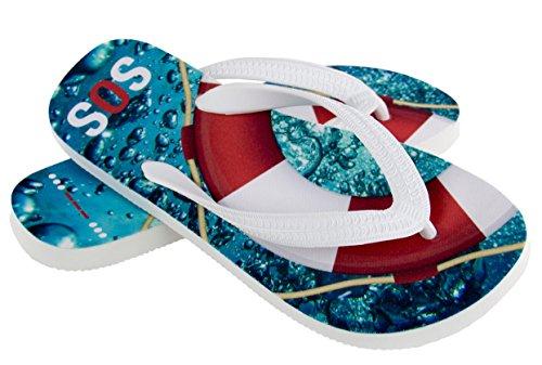 Regalo para Flotador/Cruz Fahrt Salvavidas SOS - Agua - Zapatos de Deporte palupas, Color, Talla 39-41 EU/M: Amazon.es: Zapatos y complementos