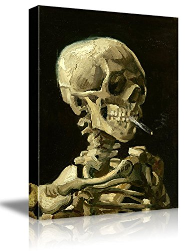 Skull of a Skeleton with Burning Cigarette by Vincent Van Gogh Oil Painting Reproduction