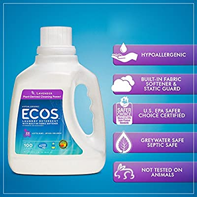 Earth Friendly Products ECOS 2x Liquid Laundry Detergent With Built In Softener