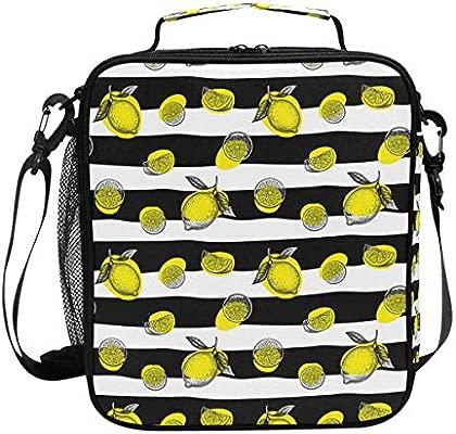 Lonchera aislante para adultos con diseño de zombie y limón con ...