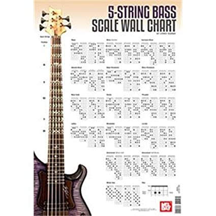 amazon com: corey dozier: 5-string bass guitar scale wall chart: musical  instruments