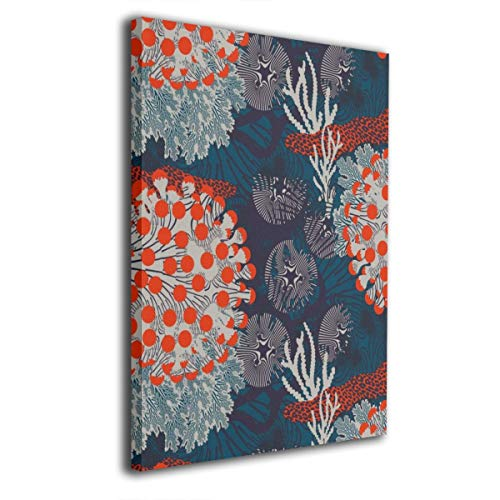 YZ-MAMU Tissus Marimekko Wall Art Decor Poster Artworks Paintings Prints On Canvas Without Frame Ready to Hang for Modern Decor Living Room 16x20Inch