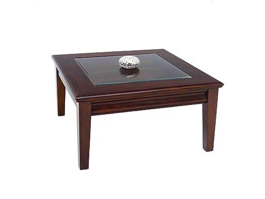 Cuadrada – Mesa con tablero de cristal (90 x 90 x 50 cm: Amazon.es ...