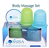Facial Soft Tissue Injury - Mira Dynamics International Body Massage Cups ,Set Includes 1 Soft (Green) and 1 Hard (Blue) Cups
