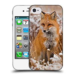 Super Galaxy Coque de Protection TPU Silicone Case pour // V00000983 Patrón Fox Animal // Apple iPhone 4 4S 4G