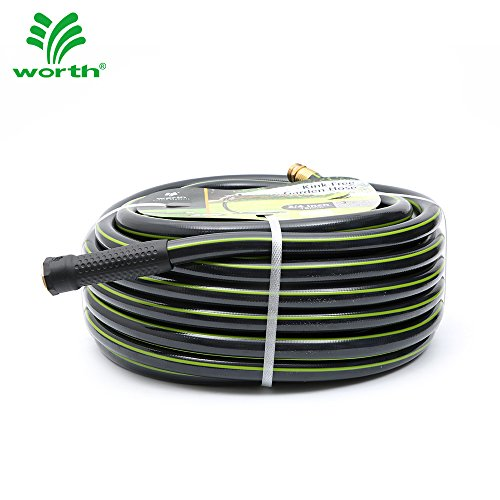 3/4' 50ft. No-Kink Tested Home & Contractor Approved Garden Hose - 12 Year Warranty - Extremely High Water Pressure with Solid Brass Fittings - Landscape Approved - Extremely Durable Hose