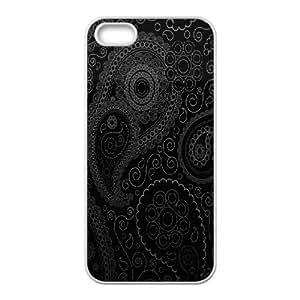 IPhone 5,5S Cases Dark Curly Pattern, Kweet, [White]
