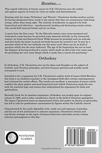 heretics and orthodoxy g k chesterton amazon  heretics and orthodoxy g k chesterton 9781533693440 amazon com books