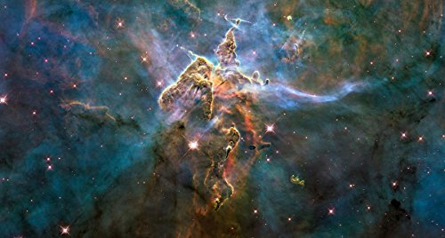 Wall Art Impressions Quality Prints - Laminated 44x23 Poster Picture by Hubble Space Telescope Crop