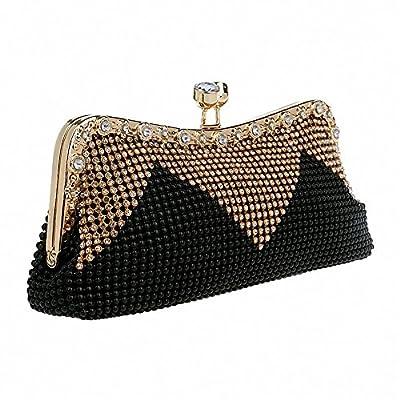 Afibi Women Handbags Rhinestone Evening Bags Crystal Party Clutches Bag