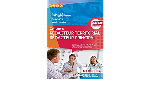164a5990f96 Redacteur territorial redacteur principal categorie b. 2015 - 2016   9782216128761  Amazon.com  Books