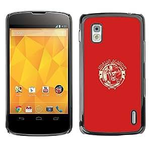 """LG Nexus 4 E960 , JackGot - Impreso colorido protector duro espalda Funda piel de Shell (Spartan Academia"""")"""