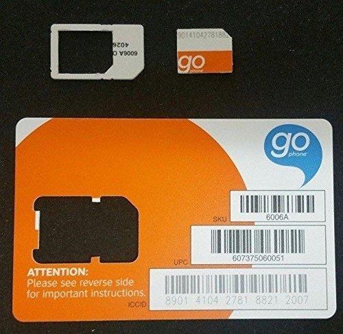 AT&T Wireless 3G / 4G / LTE Micro SIM Card - Postpaid /Go Phone Prepaid - SKU 4453A SIM (Micro Sim Go Phone)