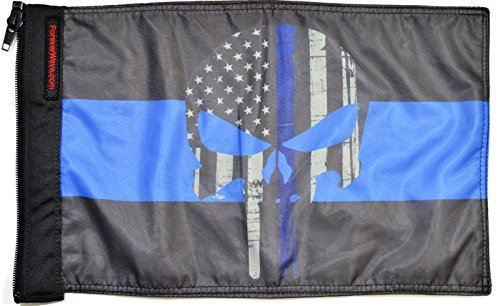 Forever Wave Thin Blue Line Punisher Flag