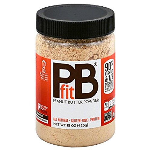 PBfit- All-Natural Peanut Butter Powder, Produced by BetterBody Foods - 15 oz