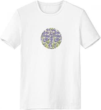 DIYthinker Flores De Lavanda Planta De Pintura De Cuello Redondo Camiseta Blanca De Manga Corta De La Comodidad Camisetas Deportivas Regalo - Multi - S: Amazon.es: Deportes y aire libre
