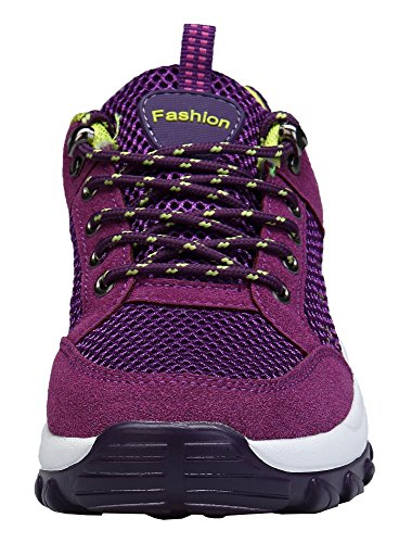 Comodos Zapatillas Tacón Mujer de Running Gym Sneakers DAFENP Morado Trail Deportivas Zapatos 8ZwdgZTqO