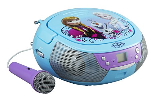 Disney Frozen CD Player Boombox with Microphone