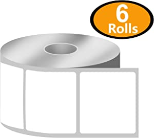 """BETCKEY - 2.25"""" x 2"""" UPC Barcode & Address Labels Compatible with Zebra & Rollo Label Printer,Premium Adhesive & Perforated[6 Rolls, 4200 Labels]"""