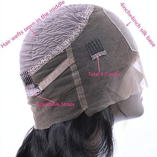 Enoya Hair 360 Silk Top Lace Frontal Loose Wave Human Hair Wigs-Glueless 180% Density Brazilian Virgin Remy Wigs with Baby Hair (silk top 20'') by Enoya (Image #5)