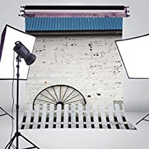 5X7FT The White Fence Backdrop Photo Background Photography Backdrop Studio Props A355