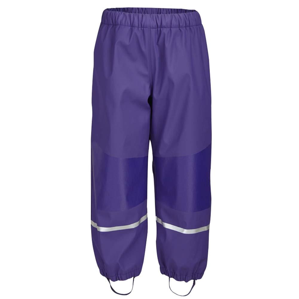 Rain Pants Children Girls Boys Winter Spring Waterproof Warm Cotton Lining Rain Gear with Reflectors