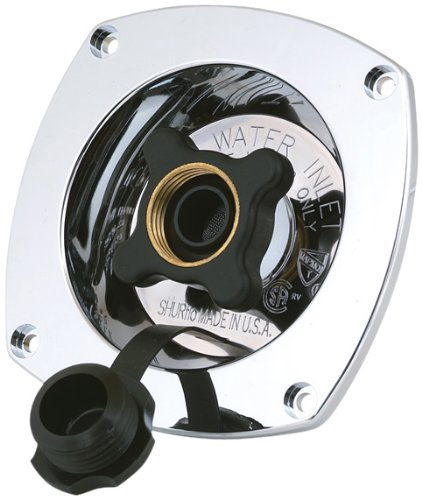 - SHURFLO 183-029-14 Pressure Reducing City Water Entry (Wall Mount) -Chrome