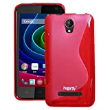 Heartly Thin Premium S-Line Soft Flexible TPU Matte Rugged Bumper Back Case Cover For Micromax Bolt Q335 - Hot Red