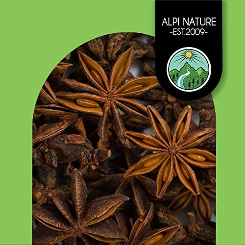Anís estrellado entero (125g), anís estrellado cápsulas enteras, 100% natural, té de anís estrellado por supuesto sin aditivos, anís estrellado