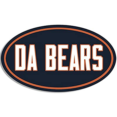 American Vinyl Oval DA Bears Sticker (Football Bumper Chicago Fan Ditka Love): Automotive [5Bkhe0404523]