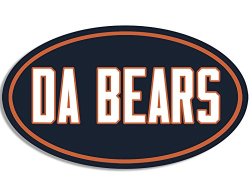 American Vinyl Oval DA Bears Sticker (Football Bumper Chicago Fan Ditka Love) ()