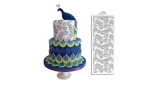 Amazon Com Peacock Spray Cake Stencil Set Cake Design Stencil Mold