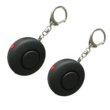 YZCX [2 Pack] Alarma Personal, 125DB Mini Funda Alarma Alarma antipánico y para Autodefensa con lámpara LED integrada, Defensa Personal, Portátil, ...
