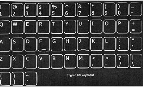 adesivitastiera. it – Pegatinas Letras Teclado USA fondo negro letras blancas: Amazon.es: Electrónica