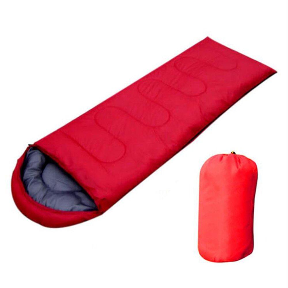 Sleepingバッグby zorvo-封筒軽量ポータブル、防水性、快適with圧縮袋 – Great for 4シーズン旅行、キャンプ、ハイキング、アウトドア活動&。 B07253DBMG  レッド