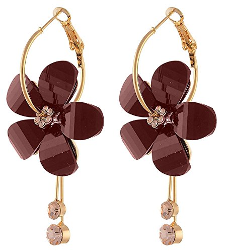 Golden Brown Earring (YouBella Fashion Jewelry Designer Party Wear Earrings for Women and Girls (Golden-Brown))