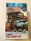 Jurassic World 4 Piece Full Sheet Set